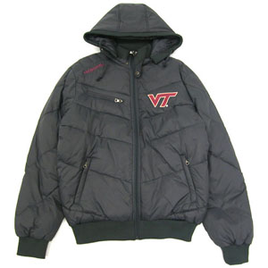 Virginia Tech Insulator Hooded Full Zip Heavy Jacket - Small
