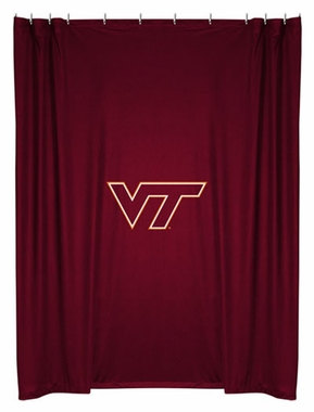 Virginia Tech Jersey Material Shower Curtain