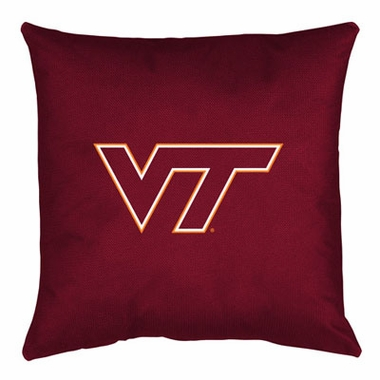 Virginia Tech Jersey Material Toss Pillow