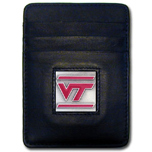 Virginia Tech Leather Money Clip (F)
