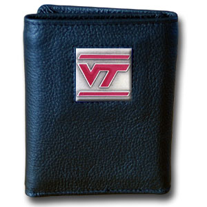 Virginia Tech Leather Trifold Wallet