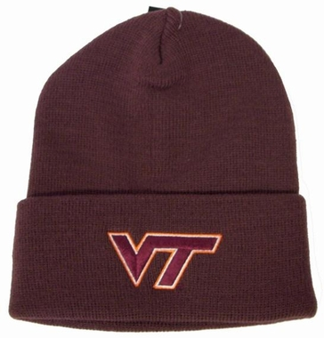 Virginia Tech Logo Knit Ski Cap