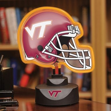 Virginia Tech Neon Display Helmet
