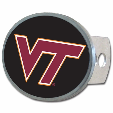 Virginia Tech Oval Metal Hitch Cover