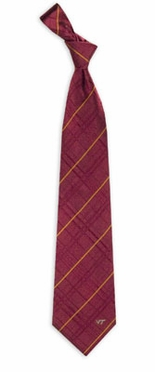 Virginia Tech Oxford Stripe Woven Silk Necktie