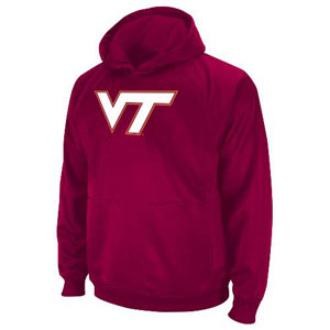 Virginia Tech Performance Pullover Hooded Sweatshirt - Medium