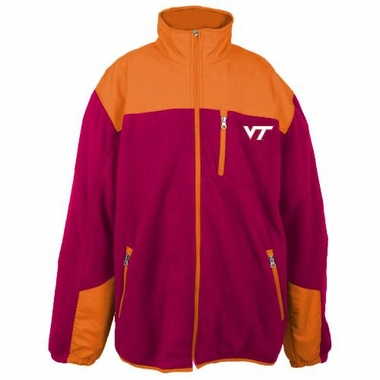 Virginia Tech Poly Dobby Full Zip Polar Fleece Jacket