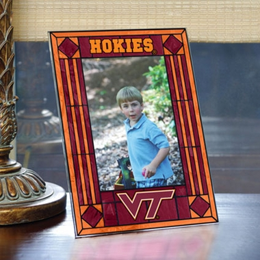 Virginia Tech Portrait Art Glass Picture Frame
