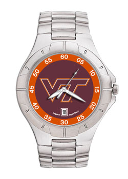 Virginia Tech Pro II Men's Stainless Steel Watch