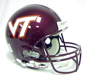 Virginia Tech Riddell Full Size Authentic Helmet
