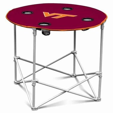 Virginia Tech Round Tailgate Table