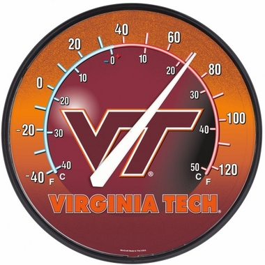 Virginia Tech Round Wall Thermometer