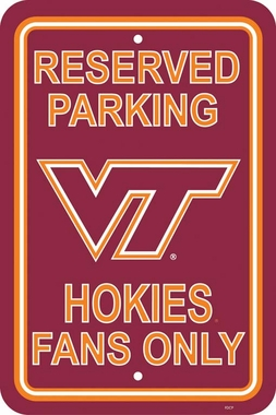 Virginia Tech Plastic Parking Sign (P)