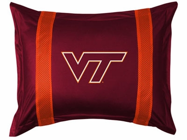Virginia Tech SIDELINES Jersey Material Pillow Sham