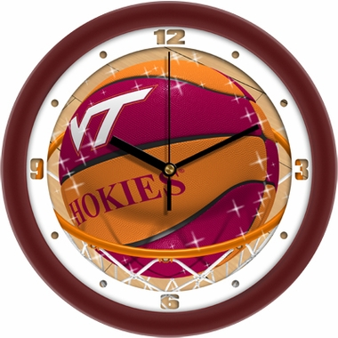 Virginia Tech Slam Dunk Wall Clock
