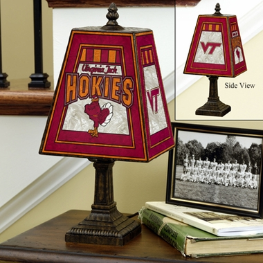 Virginia Tech Small Art Glass Lamp