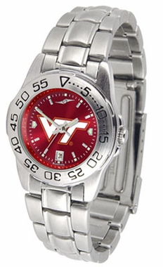 Virginia Tech Sport Anonized Women's Steel Band Watch
