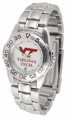 Virginia Tech Sport Women's Steel Band Watch