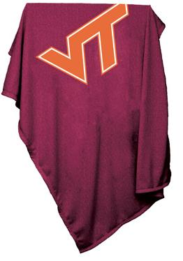 Virginia Tech Sweatshirt Blanket
