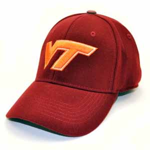 Virginia Tech Team Color Premium FlexFit Hat - Small / Medium