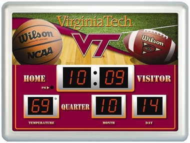 Virginia Tech Time / Date / Temp. Scoreboard