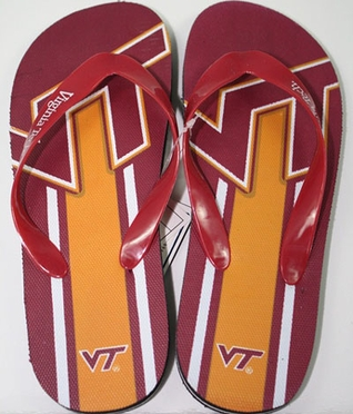 Virginia Tech Unisex Big Logo Flip Flops