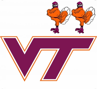 Virginia Tech Wallmarx Large Wall Decal