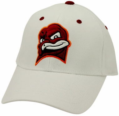 Virginia Tech White Premium FlexFit Hat