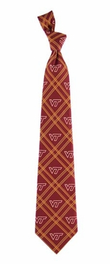 Virginia Tech Woven Poly 2 Necktie
