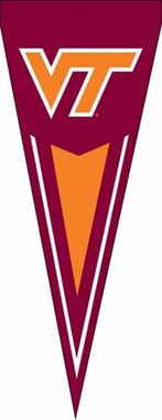 Virginia Tech Yard Pennant