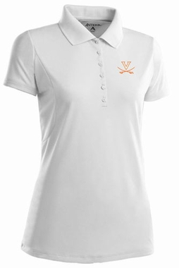 Virginia Womens Pique Xtra Lite Polo Shirt (Color: White)