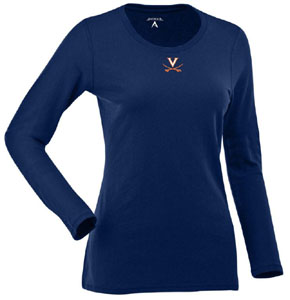 Virginia Womens Relax Long Sleeve Tee (Team Color: Navy) - Small
