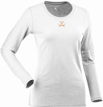 Virginia Womens Relax Long Sleeve Tee (Color: White)