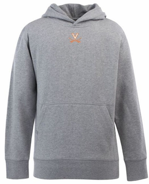 Virginia YOUTH Boys Signature Hooded Sweatshirt (Color: Gray)