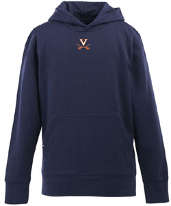 Virginia YOUTH Boys Signature Hooded Sweatshirt (Team Color: Navy) - Large