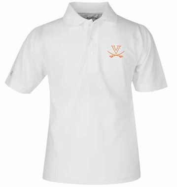 Virginia YOUTH Unisex Pique Polo Shirt (Color: White)