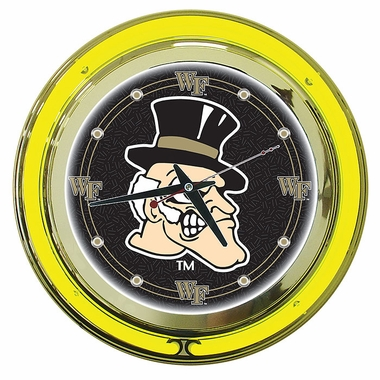 Wake Forest 14 Inch Neon Clock