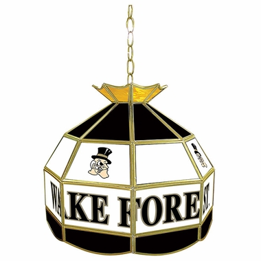 Wake Forest 16 Inch Diameter Stained Glass Pub Light