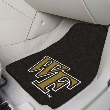 Wake Forest 2 Piece Car Mats