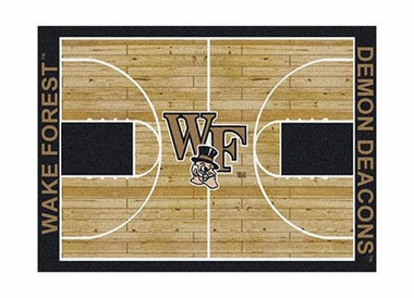 "Wake Forest 3'10"" x 5'4"" Premium Court Rug"