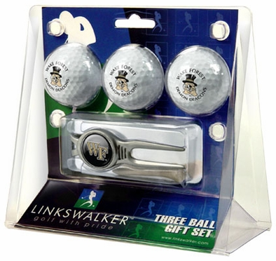 Wake Forest 3 Ball Gift Pack With Kool Tool