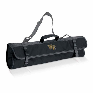 Wake Forest 3 Piece BBQ Tote (Black)