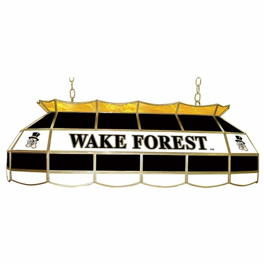 Wake Forest 40 Inch Rectangular Stained Glass Billiard Light
