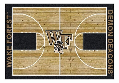 "Wake Forest 5'4"" x 7'8"" Premium Court Rug"