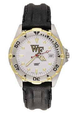 Wake Forest All Star Mens (Leather Band) Watch