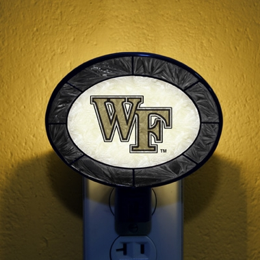 Wake Forest Art Glass Night Light