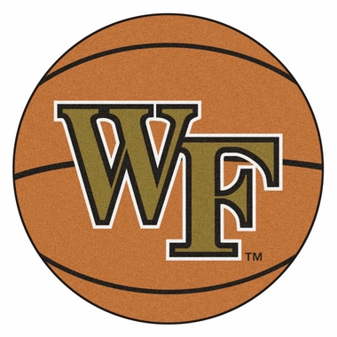 Wake Forest 27 Inch Basketball Shaped Rug