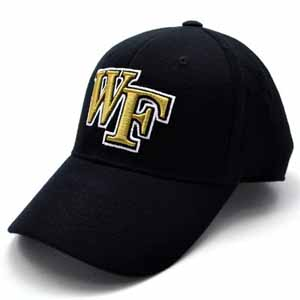 Wake Forest Black Premium FlexFit Baseball Hat - Large / X-Large