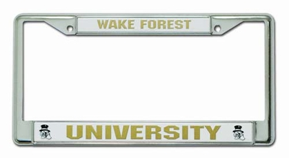 Wake Forest Chrome License Plate Frame