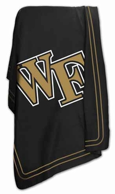 Wake Forest Classic Fleece Throw Blanket